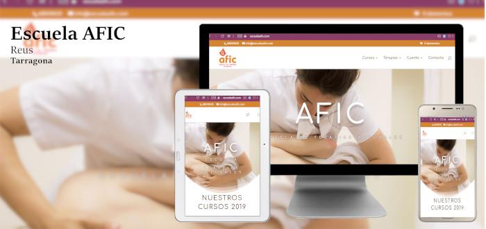 Diseño web Escuela Afic, Reus. Tarragona