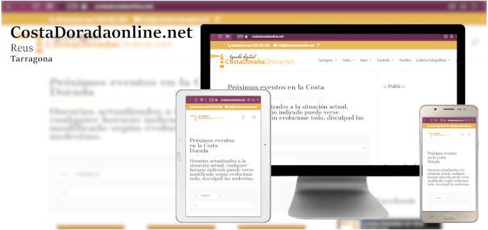 Diseño web Agenda digital costadoradaonline.net