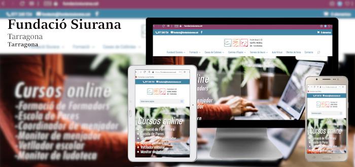 Diseño web Fundació Siurana, Tarragona
