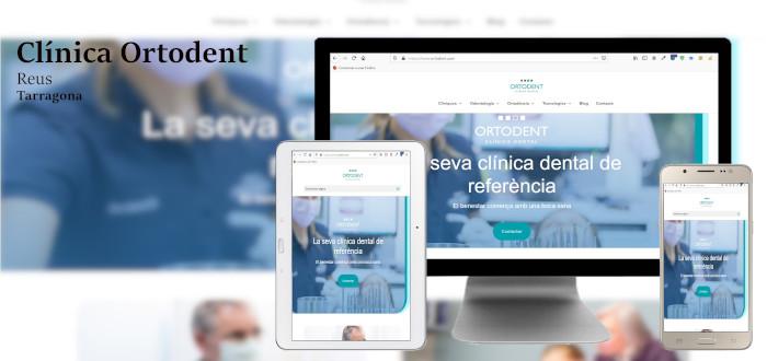 Diseño web Clínica dental Ortodent, Reus. Tarragona