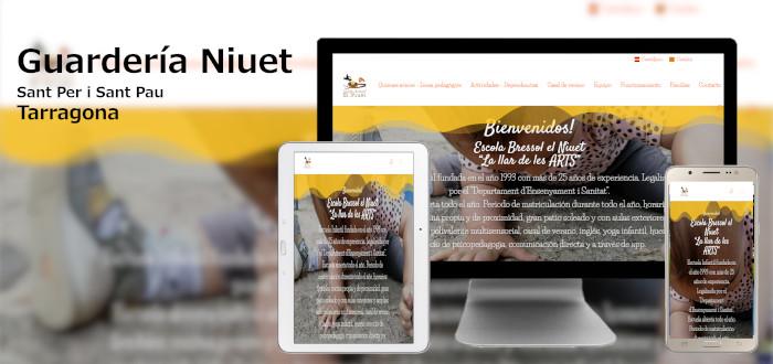 Diseño Web Niuet Guardería Tarragona